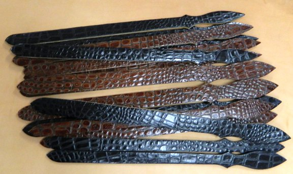 Texas Ranger Belt alligator print billets