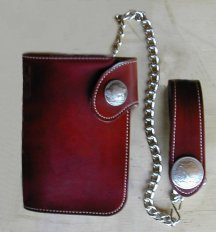 trucker wallet with chain