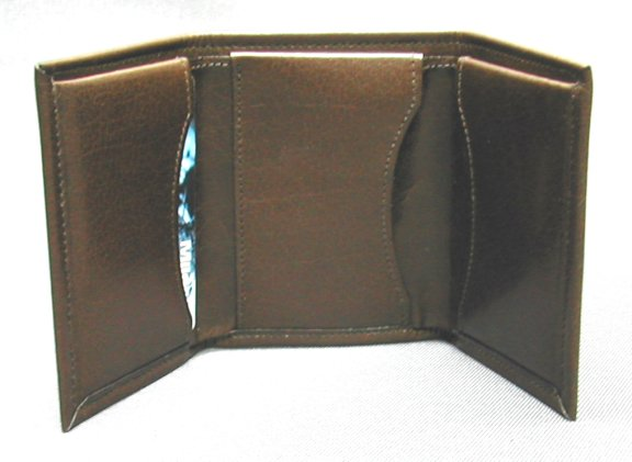 Three fold leather wallet