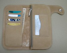 trucker wallet with zipper pocket