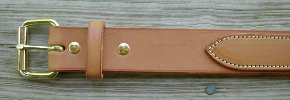 double thick leather belt