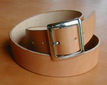 Natural Bridle Leather belt