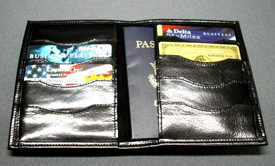 Credit card passport wallet