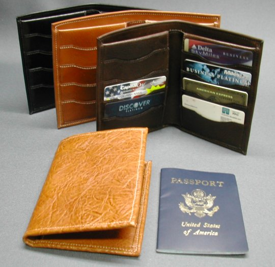 Hipster passport wallet