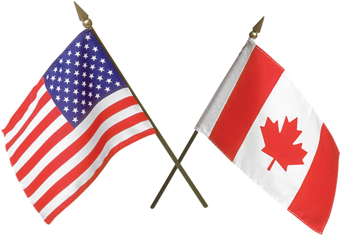 USA and Canada Flag