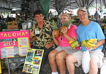 Arriving at the Hilo Farmers Market