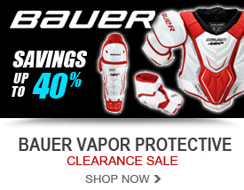 Savings up to 40% On Bauer Vapor Protective Equipment!