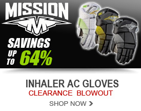Save up to 64% On Mission Inhaler AC Hockey Gloves