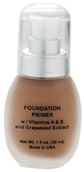 Illuminating Tinted  Face Primer Anti-Aging Liquid Foundation with Green Tea & White Tea Anti-Oxidants from Natural Skin Care & Beauty - Hypoallergenic, Fragrance Free, Dermatologist Recommended