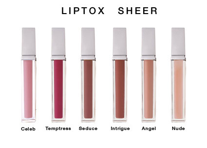 Liptox Sheer Lip Plump Enhancing Gloss with Natural Lip Serum - Angel, Celeb, Intrigue, Nude, Seduce, Temptress