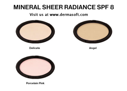 Mineral Sheer Radiance Foundation Powder - Oil Free, Fragrance Free, Hypoallergenic Mineral Face Powder. Mineral Foundation Powder is Dermatologist Recommended for Sensitive Skin. DermaSoft Sheer Beauty.