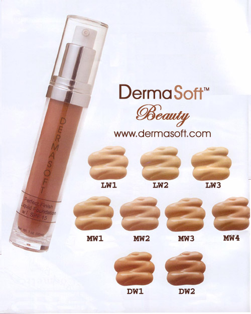 Oil Free Liquid Foundation with SPF 15 from DermaSoft ™ Skin Care & Natural Beauty