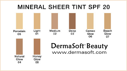 Mineral Sheer Tint SPF 20 - Hypoallergenic, Oil Free Liquid Foundation with Ginseng and Broad-Spectrum  Sunscreen from DermaSoft® Skin Care & Dermatology