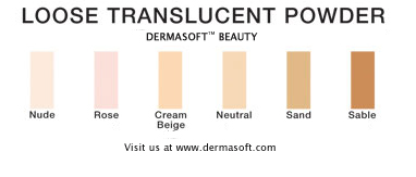 Translucent Finishing Foundation Powder - Oil Free, Fragrance Free, Hypoallergenic Mineral Face Powder. Mineral Powder is Dermatologist Recommended for Sensitive Skin. DermaSoft Sheer Beauty.