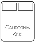 California King Size Iron Bed
