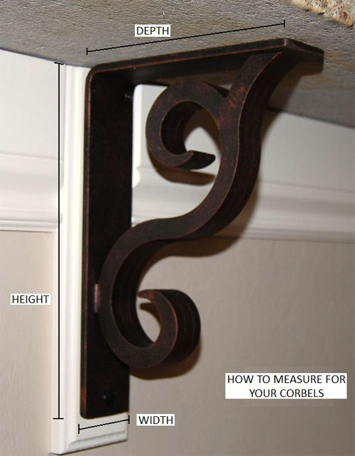 Measure for Wrought Iron Corbels