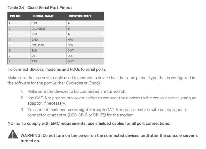 2.3.1 Connecting device consoles or modems to serial ports - part 2