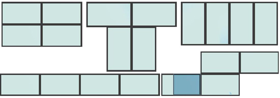 4K-SVWP-120G7S Possible Layouts