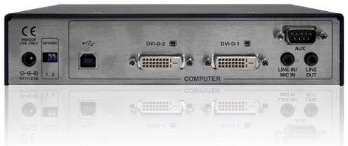 Image of rear ports of the Adder ALIF2020T KVM Extender