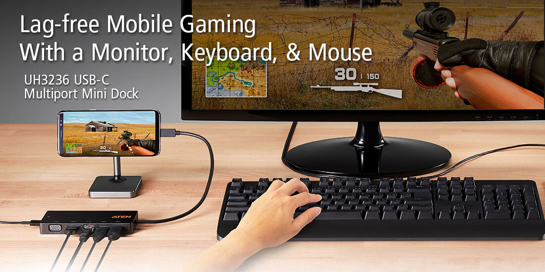 Mobile Gaming with a Monitor, Keyboard, & Mouse