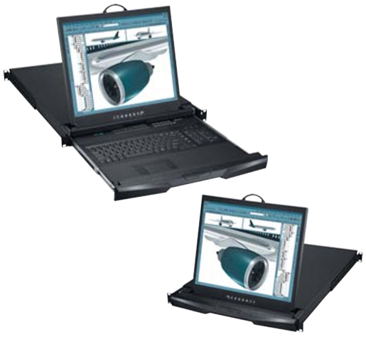 Cyberview Dual-Rail Rack Monitor & Console