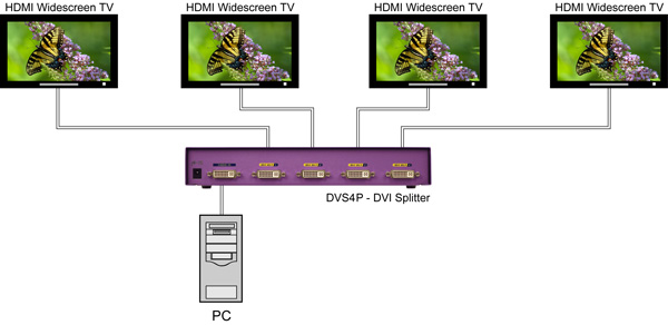 SmartAVI DVI/VGA Splitter Diagram