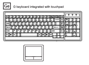 DX117 standard keyboard