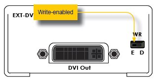 Gefen EXT-DVI-EDIDN Setup Write Enabled Diagram