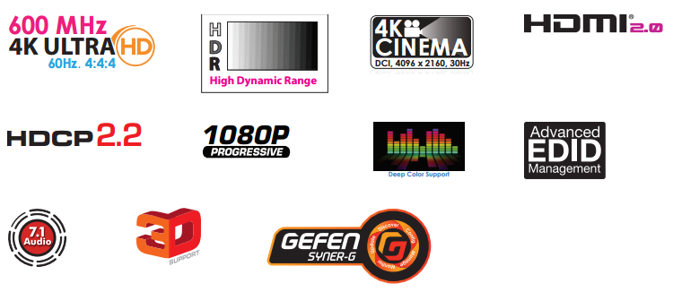 Gefen EXT-UHD600-18 Features
