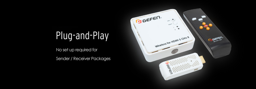 Gefen EXT-WHD-1080P-SR Application - Plug and Play, no set-up required