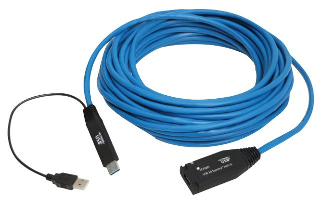 Icron Spectra 3001-15 (00-00351) 50Ft USB 3.0 Copper CATx Extender cable - Locking USB 3.0 Port Delivering 900mA Power From PC