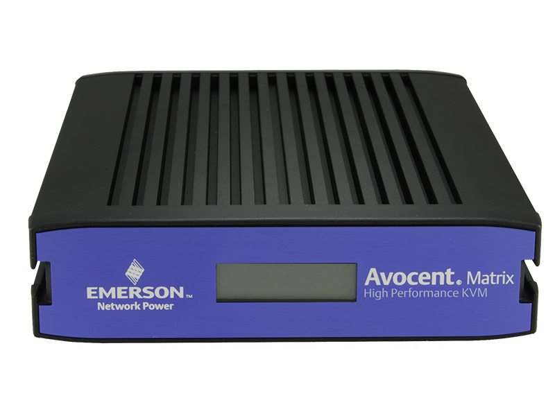 Avocent MX Matrix 16 User DVI/VGA KVM Switch - PoE-powered transmitters with centralized software management