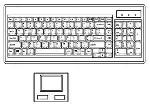 """Ne"" style keyboard included with D117-801e"