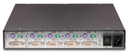 Avocent SwitchView SC4PDV-001 Secure KVM Switch Back View