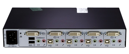 Avocent SwitchView SC640 Secure KVM Switch Back View