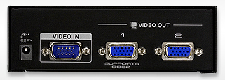 ATEN 2 Port Video Splitter Backview