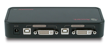 Avocent 2-port USB DVI KVM Switch Back