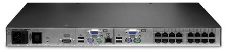 Avocent AutoView 16-Port KVM Switch Backside