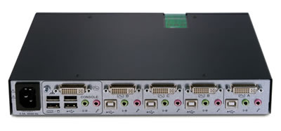 Avocent SwitchView SC440 Secure KVM Switch Back View