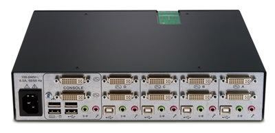 Avocent SwitchView SC540 Secure KVM Switch Back View