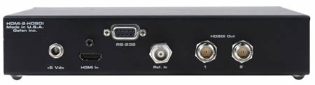 Gefen HDMI to HD-SDI Scaler Box Backside