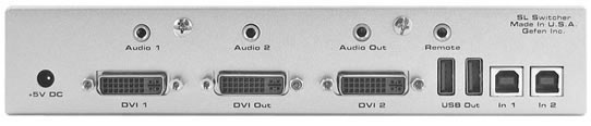 Gefen SL Switcher EXT-DVI-241SL Rearview