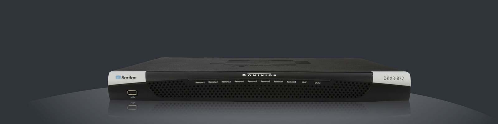 Raritan Dominion DKX3 Dual-Monitor VGA KVM Over IP Switch - Virtual Media, Military grade security