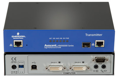 Avocent HMX5000 & HMX6000 CAT7 or Fiber Multipoint Extension Solution - Single or Dual-Monitor DVI, 1080P