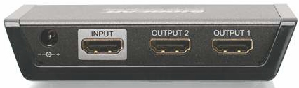 IOGEAR 2 Port HDMI Splitter Backview