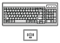 Keyboard with Trackball Mouse