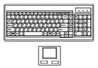 Keyboard with Touchpad Mouse