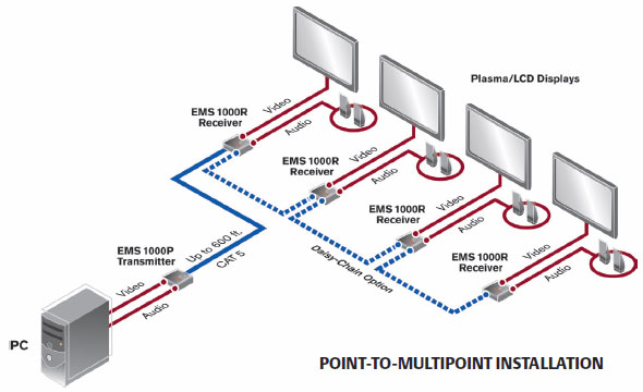 Emerge Point to Multi-Point application diagram