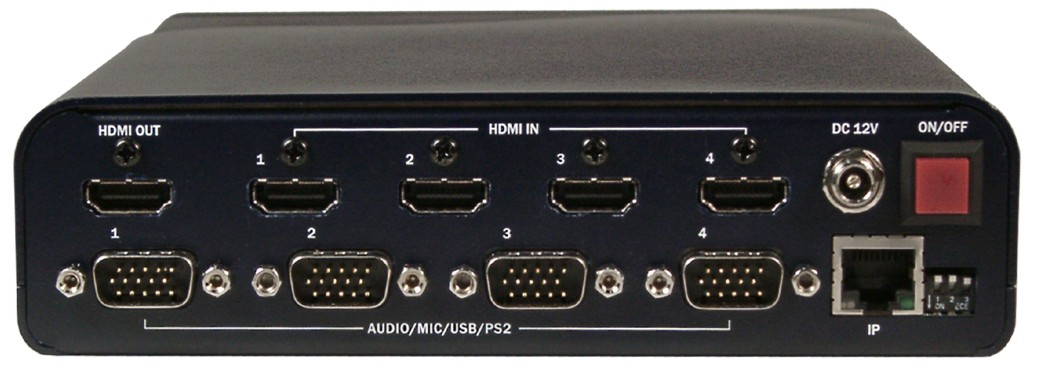 QuadraVista, 4-Port Quad Video HDMI KVM Switch