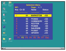 MasterConsole On-Screen User Interface